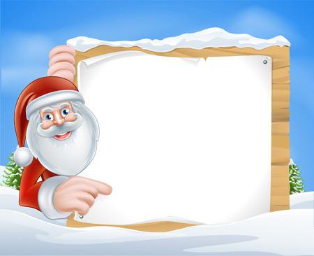 santaclause: Santa Claus pointing at a Christmas message