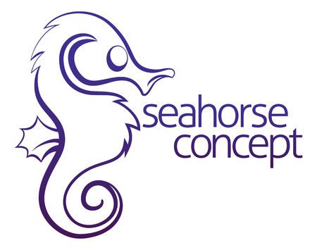 hippocampus: An illustration of an abstract seahorse concept design