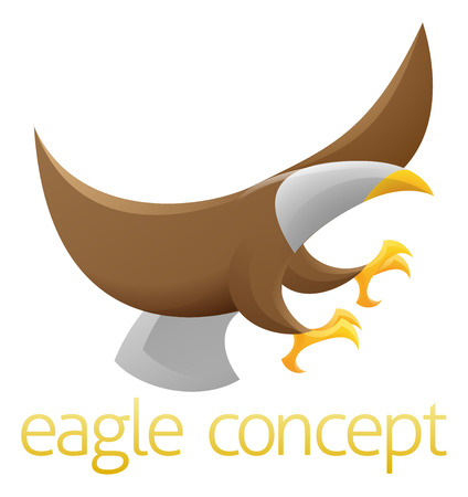 An abstract illustration of an eagle concept design Vector