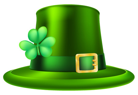 An illustration of a St Patricks Day green leprechaun hat Vector