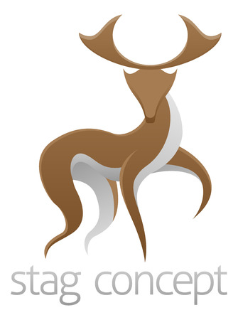 dear: An abstract illustration of a stag deer concept design