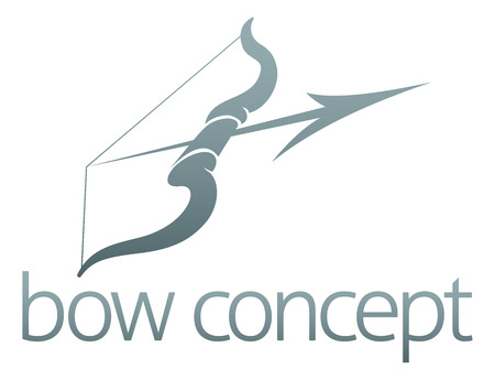 An abstract illustration of a bow and arrow concept design