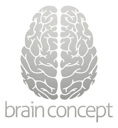 brain icon: A conceptual illustration of the human brain from the top