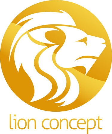 An abstract illustration of a lion circle concept design