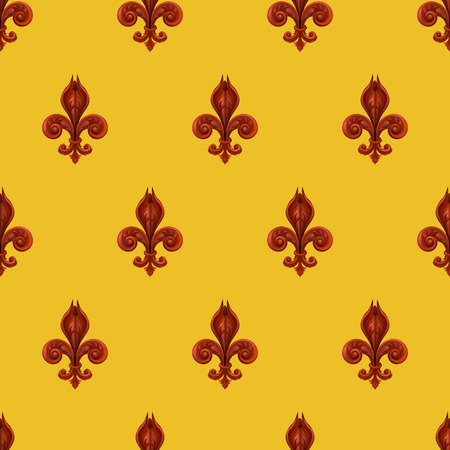 lis: A seamles background featuring a pattern of fleur se lis Illustration