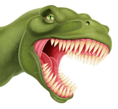 dinosauro: Un esempio di una dettagliata T Rex Tyrannosaurus Rex Dinosaur testa