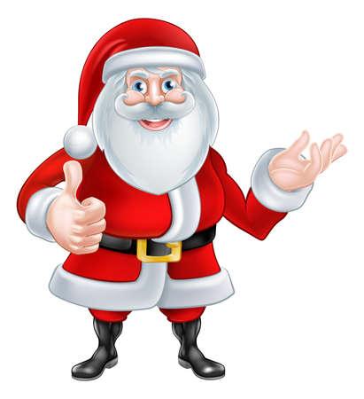 christmass: A Christmas cartoon of Santa Claus