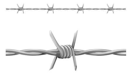 fil de fer: Une illustration de fil de fer barbelé de carrelage transparente