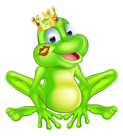 frog prince: An illustration of a cute cartoon frog prince  Illustration