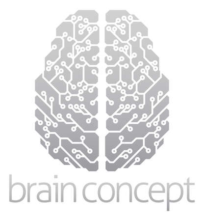 An abstract illustration of an electronic brain, ai artificial intelligence concept