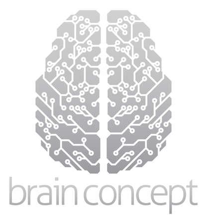 inteligencia: Un ejemplo abstracto de un cerebro electrónico, ai concepto de la inteligencia artificial
