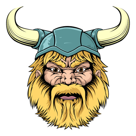 ancient warrior: An illustration of a tough looking Viking Warrior mascot