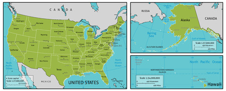 A Map Of America With All State Names State Capitals And Other - Map of united states of america with capitals