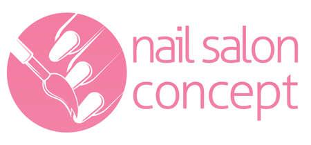 manicurista: Nail bar, t�cnico del clavo o sal�n de manicura concepto de un clavo que se pinta con un pincel