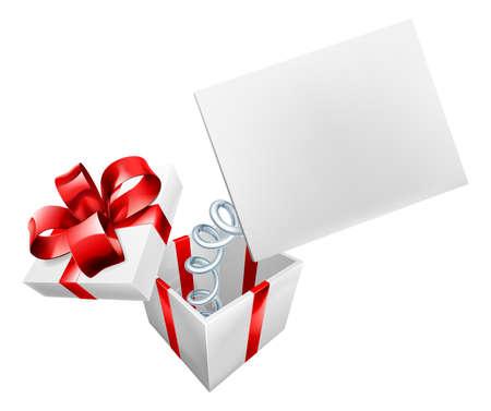 cintas navide�as: Un gato en la caja con un signo de saltar sobre un muelle