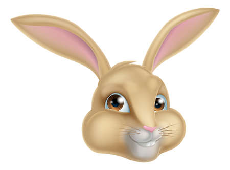 rabit: A cartoon rabbit, could be the Easter bunny