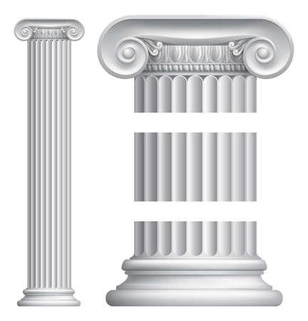 templo romano: Un ejemplo de un pilar de la columna iónica griega o romana clásica