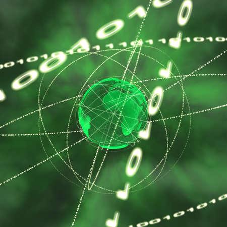 computing machine: binary information streaming round the globe