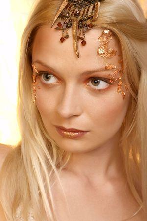 Beautiful young blonde woman Stock Photo - 275088