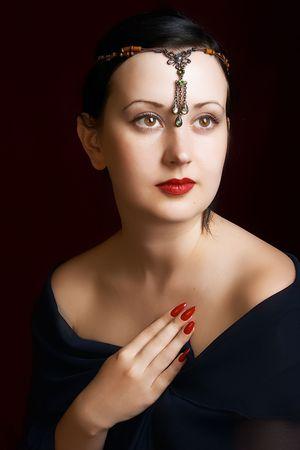 Atractiva mujer misteriosa
