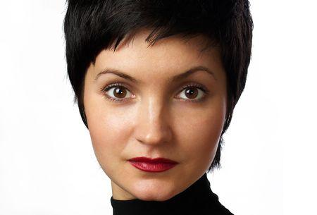 Beautiful woman. Portrait. Close-up. photo
