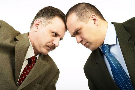 Negocios rivales entr� en negociaciones.  Foto de archivo