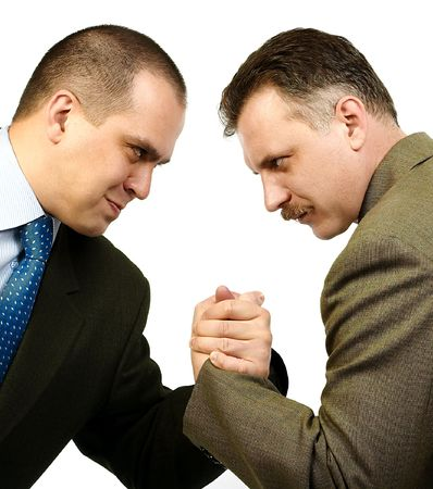 entered: Business rivals entered into negotiations.