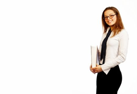 Young beautiful businesswoman smiling. Stock Photo - 326941