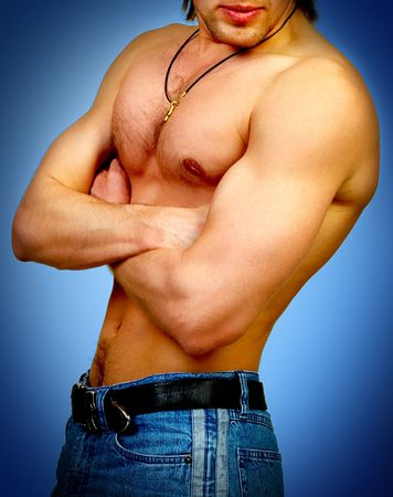 Strong male body Stock Photo - 371293