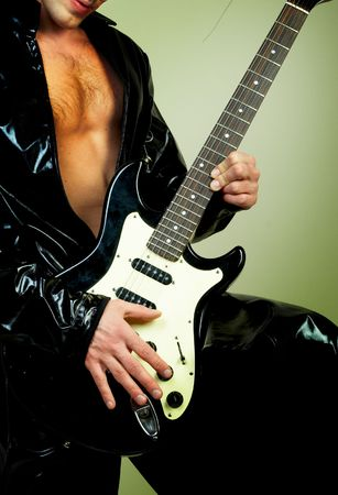 rock guitarist: Rock guitarist   Stock Photo