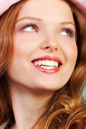Feliz mujer cara