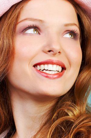 Visage heureux de femme Banque d'images