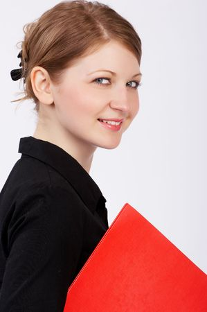 Young beautiful business woman smiling. Stock Photo - 407180
