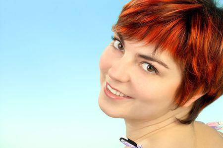 Happy face femme  Banque d'images