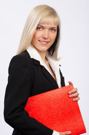 Young beautiful business woman smiling.   photo