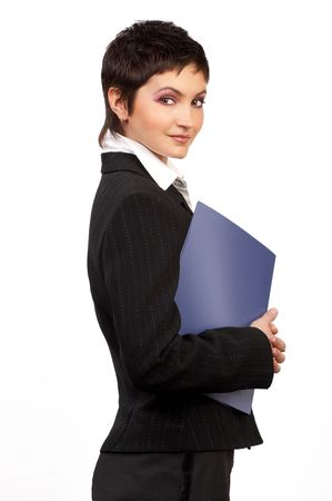 Young smiling business woman. Stock Photo - 470590
