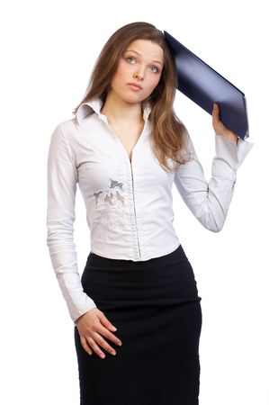 Young business woman. Stock Photo - 486626