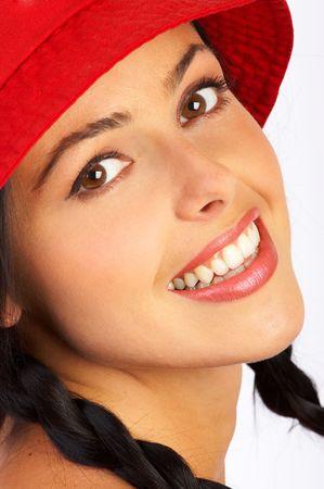 Happy woman face Stock Photo - 436900