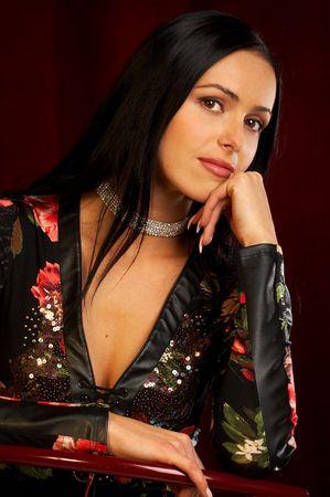 Pretty retro woman Stock Photo - 436901