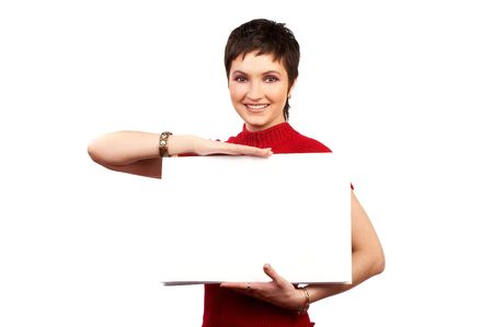 area sexy: Young smiling business woman. Stock Photo