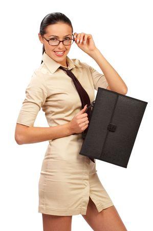of office: beautiful businesswoman