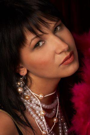 Pretty woman in retro style Stock Photo - 470539
