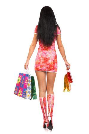 Shopping pretty woman photo