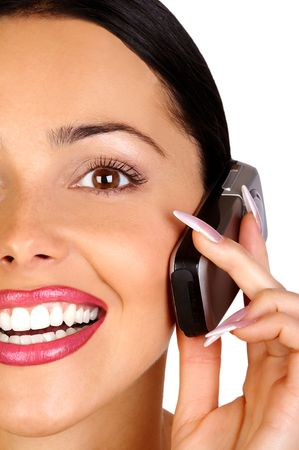 attractive young business woman calling by  phone