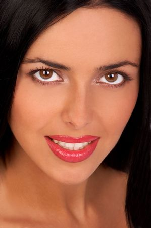 Portrait of a young beautiful woman with charming eyes