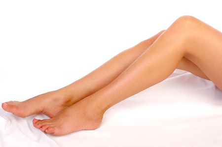 Beautiful woman legs. Isolated over white background Stock Photo - 656371