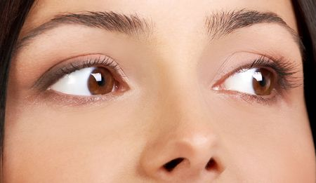 Beautiful eyes of a young pretty woman. Close-up Stock Photo - 685166