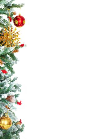 Christmas Tree Decoration. Isolated over white background photo