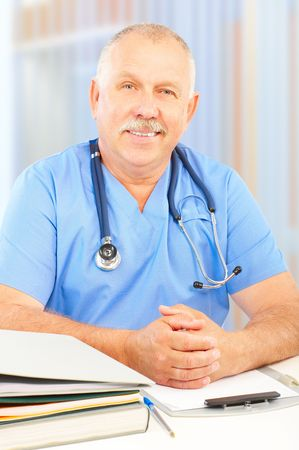 Smiling medical doctor with stethoscope. Stock Photo - 5813199
