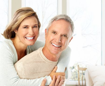 Happy elderly couple in love at home Stock Photo - 5849645